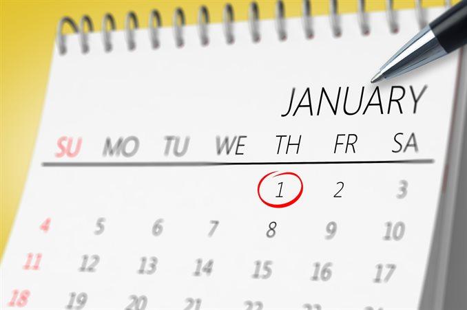 カレンダーにまる